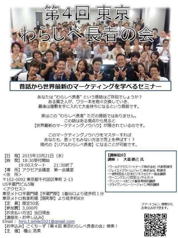 第4回東京わらしべ長者の会